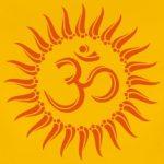 Om-soleil,-bouddhisme,-spirituel,-yoga,-meditation-Tee-shirts