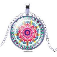 Мандала Романтика и споделена любов – медальон с ръчно изработена мандала