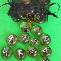 Ръчно изработени гадателски Руни 25 броя + торбичка