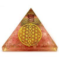 Любов и хармония – Пирамида оргонит розов кварц